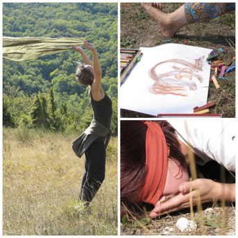 life art process, danse en nature