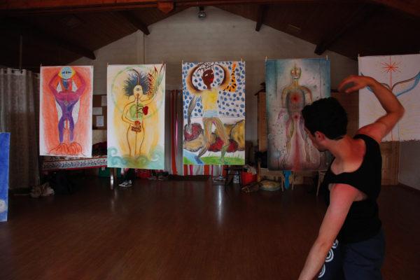 tamalpa, autoportrait,life art process, béatrice maine