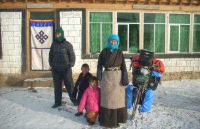 tour du monde à vélo, résonance, intuition et choix en voyage, tibet l'hiver, béatrice maine