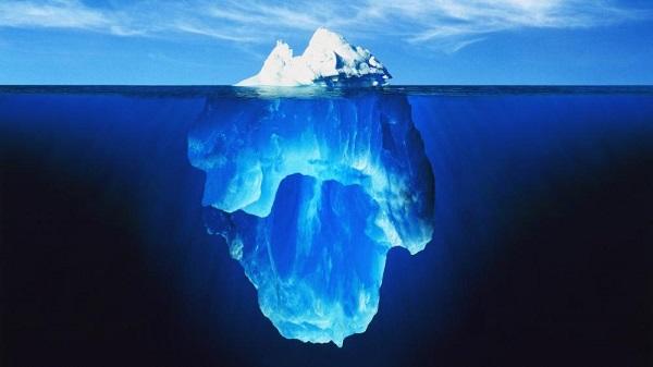 iceberg, métaphore Conscience, inconscient collectif, communication impactante, Vie, Dieu, Grand Mystère, magie, âme,